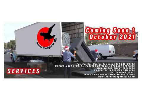 Coming Soon ! October 2021 Full Service Moving Company