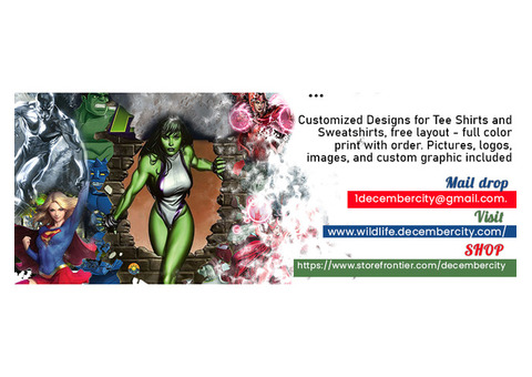 Customized Designs for Tee Shirts and Sweatshirts